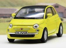 PERSONALISED PLATE Yellow Fiat 500 Boys Girls Toy Model Car Birthday Present Box