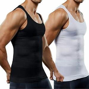 Mens Body Shaper Slimming Shirt Compression Vest Elastic Slim Shapewear Tank Top