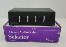 RadioShack, Stereo Audio/ Video Selector, 4 Way Switch 15-1978 Open Box