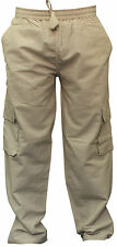 Mens Plain Hemp Hippie Cargo Pockets Hippie Combat Pants Festival Boho Trousers