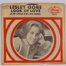 "LESLEY GORE: Look of Love / Little Girl Go Home 7"" Mercury Pop Rock 45 PS"