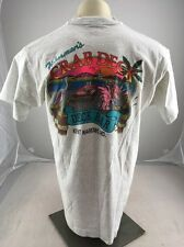 Vintage Fishermans Crab Deck Maryland Neon Bar Souvenir Shirt XL 2-Sided USA