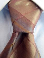 Men's Verri Brown Striped Silk Tie Made in Italy 20991