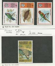 Solomon Islands, Postage Stamp, #318-9, 330, 412 Mint NH, 1978 Crocodile