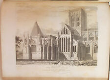 1836 CATHEDRAL ANTIQUITIES OF ENGLAND John Britton CANTERBURY & YORK Engravings