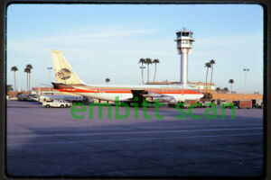 Original Slide, Continental Airlines Boeing 720-024B (N17208) at Phoenix, 1975