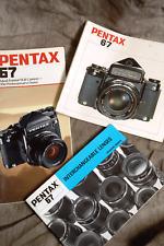 PENTAX 6X7 instruction manuals for camera & lenses  + 6x7 Brochure