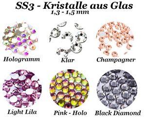 SS3 Kristalle Glas Nageldesign Nail Art Strass Stein Steinchen Profiqualität