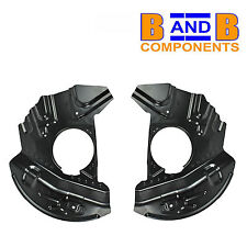 BMW X5 E53 FRONT DISC BRAKE PROTECTION BACK PLATES PAIR A1187