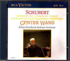 Günter WAND: SCHUBERT Symphony No.4 Tragic 8 Unfinished CD Gunter Sinfonien WDR