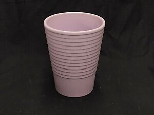 """VINTAGE PINK CERAMIC FLOWER VASE MADE IN GERMANY 6.5"""" TALL X 5"""" ACROSS POTTERY"""