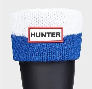 Hunter Original Tall MOUSTACHE Boot Socks in Blue/White Size:Medium  NWT/Boxed