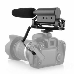 Interview Shotgun Video Microphone Compatible for Nikon/Canon Camera/DVCamcorder
