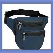 10 Pk Fantasybag Navy Blue 3-Zipper Fanny Pack