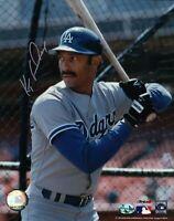 Ken Kenny Landreaux Signed 8X10 Photo Autograph Dodgers in Cage Silver Auto COA