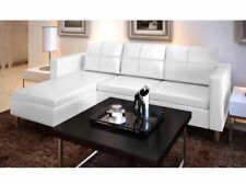 White Leather Sectional Sofa 3 Seater L Shaped Modern Living Room Furniture Part 91