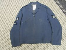 Royal Canadian Air Force Vintage Jacket with Patches, Man's Size 11