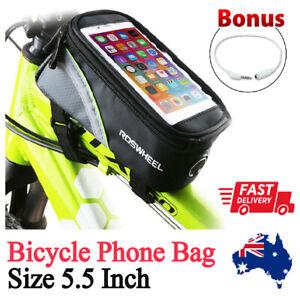 Bicycle Front Tube Frame Bag 5.5 Inch Phone Case Waterproof Bike Bag