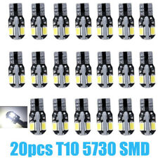 20X Canbus T10 194 168 W5W 5730 8 LED SMD Car Side Wedge Light Lamp Bulb White