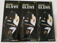 New listing GEARBOX YELLOW JACKET RACQUETBALL GLOVE RIGHT HAND X-LARGE 3 GLOVES NEW
