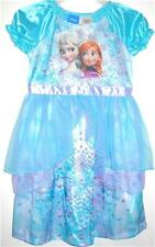 Disney Frozen ELSA ANNA Fantasy Dress Up Nightgown Sleepwear PJ's Pajama Girls