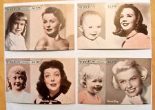 EXHIBIT SUPPLY FEMALE THEN AND NOW SET - 16 ARCADE CARDS  DORIS DAY  DECARLO