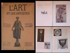 L'ART ET LES ARTISTES 1909 HENRI HUSSON, RAFFAELLI, VACLAV JICHA, GUYS