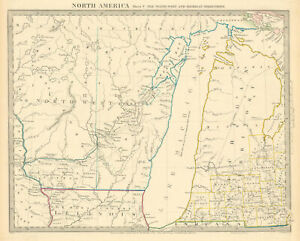 LAKE MICHIGAN.Wisconsin - NW Territory.Indian tribes villages. SDUK 1844 map