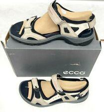 ECCO Women's Yucatan outdoor offroad hiking sandal, Atmosphere/Ice White/Black,