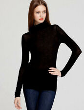 NEW BCBG MAX AZRIA BLACK BRYNNE TURTLENECK TOP  EYK1C530 SIZE S $68.00