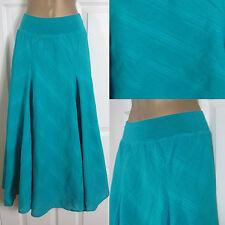 NEW M&S Per Una Ladies Skirt Summer Sun Holiday Cotton Blue Turquoise Sz 8-24