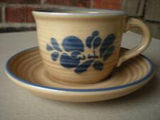 Pfaltzgraff  Folk Art COFFEE CUP and SAUCER Primitive