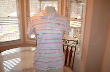 Womens Puma PWR cool road map stripe polo golf shirt Sz S small  NEW WITH TAGS
