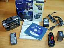 Sony HDR-UX10 Flash Media Camcorder NightShot Software Manual Remote Cables