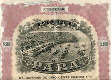 Brésil & New York- Port de Para - Superbe Déco Secteur Maritime & Portuaire 1909