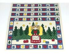 New listing Placemats Christmas Holiday Lot of 4 Vinyl Angel Hearts Stars Country Home