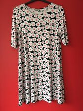 Papaya Floral Flower Print Short Sleeve Summer Beach Dress Size 16 fits 16-18-20