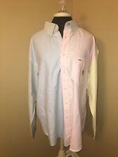 vintage tommy hilfiger button down shirt Sz L 6/6 Multicolor