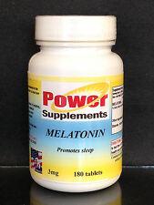 Melatonin 3mg, sleep anxiety aid, natural rejuvenation ~180 tablets. Made in USA