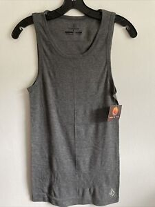New VOLCOM Sport Active Fitted Cotton Stretch Casual Tank Top Shirt Size L