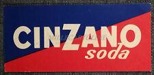 CINZANO SODA - Cartoncino Pubblicitario
