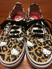 Women's Vans Hello Kitty Leopard Print Skate Shoes Size 7.5