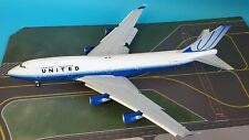 JC Wings 1:200 Boeing 747-400 United Airlines N104UA flaps down (with stand)