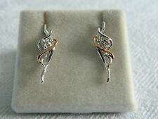 Clogau Silver & 9ct Welsh Gold Ballerina Earrings RRP £109.00