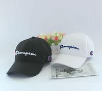 Champion Hip Pop Cap Baseball Hat Unisex Sport Ball Headwear Adjustable OSFM