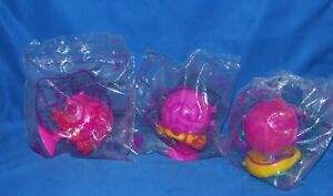 Lot of 3 Pikmi Pops Surprise McDonald's Happy Meal Toys.