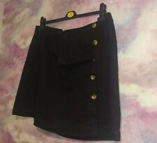 Clove Womens A Line Skirt Blue Stretch Denim Below Knee Length Plus Size 14-24