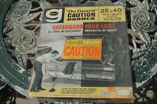 "Vintage Gering NOS Car Auto Slow Caution Banner Sign Rare 25""x40"" NICE!"