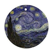 STARRY NIGHT BY VAN GOGH CHRISTMAS ORNAMENT GREAT GIFT O37