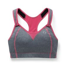 32e4579ec8aab Moving Comfort Rebound Racer Sports Bra 32B Pink Grey